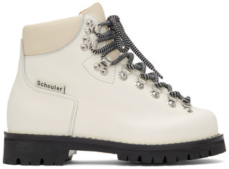 Proenza Schouler White Lace-Up Hiking Boots