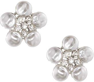 Kenneth Jay Lane Pearly Flower Cluster Stud Earrings