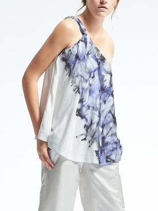 Piece & Co. One-Shoulder Sun-Dyed Silk Top $128 thestylecure.com