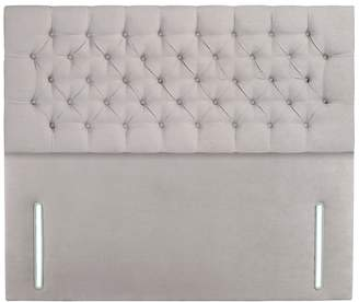 Debenhams Sleepeezee - Light Grey Plush Velvet 'Chester' Headboard