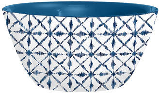 One Kings Lane Set of 4 Indochine Ikat Melamine Bowls - Blue