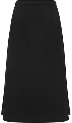 T by Alexander Wang - Cotton-jersey Midi Skirt - Black $310 thestylecure.com
