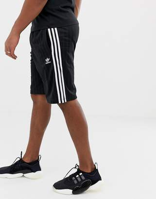 adidas adicolor retro shorts in black