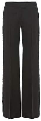 Stella McCartney Tuxedo fringed wool trousers