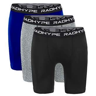 RADHYPE Men Polyester Classic Fit Sport Performance Boxer Brief Pack Underwear Set of 3 XXL