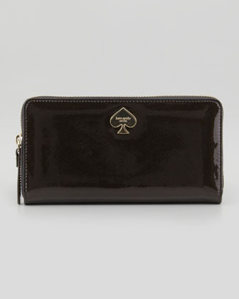 Kate Spade Glitter Bug Lacey Continental Zip Wallet, Black