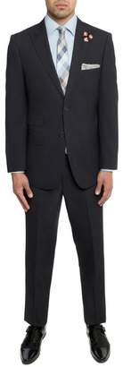 English Laundry Navy Pinstripe Two Button Peak Lapel Trim Fit Suit
