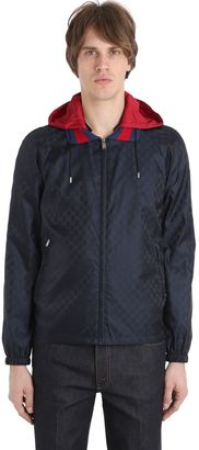 Gg Jacquard Light Nylon Jacket $1,400 thestylecure.com