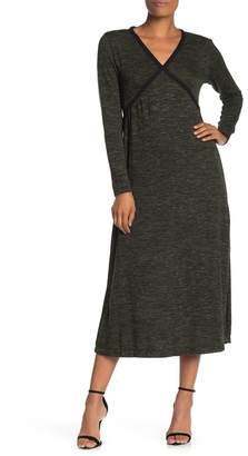 Max Studio Long Sleeve Knit Midi Dress