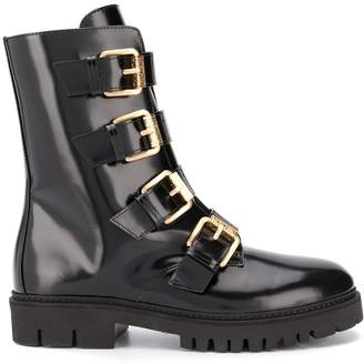 Moschino buckled ankle boots