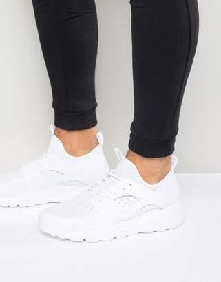 Nike Huarache Run Ultra Sneakers In White 819685-101