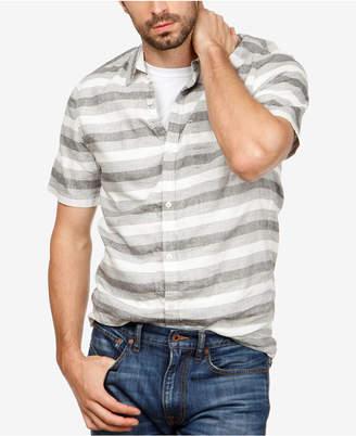 Lucky Brand Men's Laguna Linen Striped Shirt