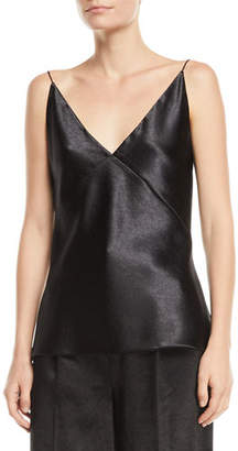 Vince V-Neck Satin Bias Cami