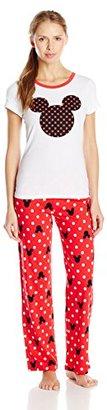 Disney Women's Ladies Knit Pajama Set Mickey $60 thestylecure.com