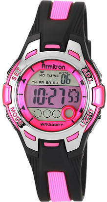 JCPenney Armitron Womens Pink Chronograph Digital Sport Watch 45/7030PNK