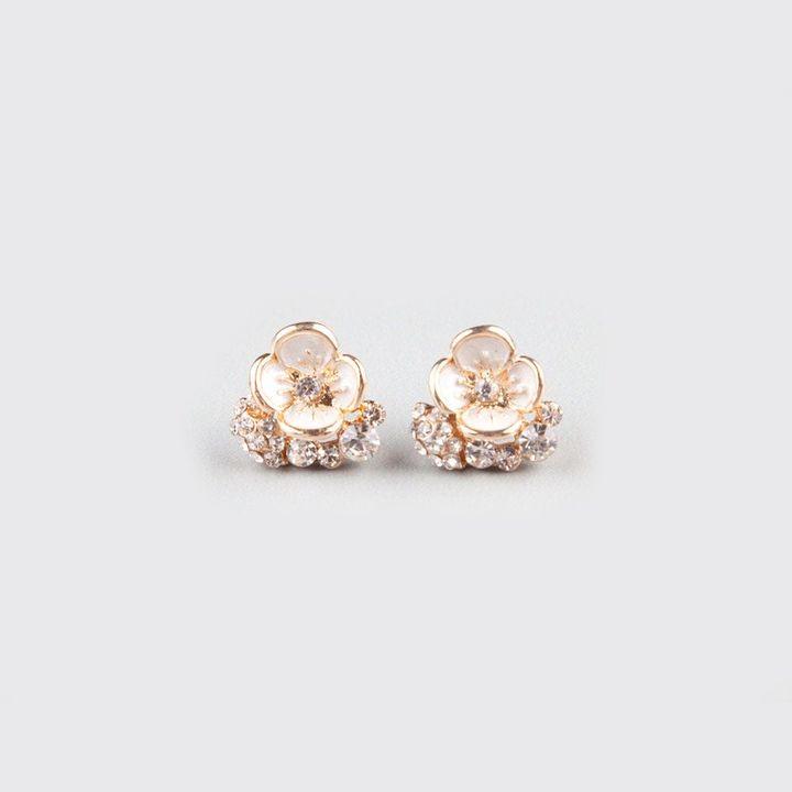 Full Tilt Enamel Flower Earrings