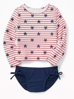 Old Navy Americana Rashguard Swim Set for Toddler Girls