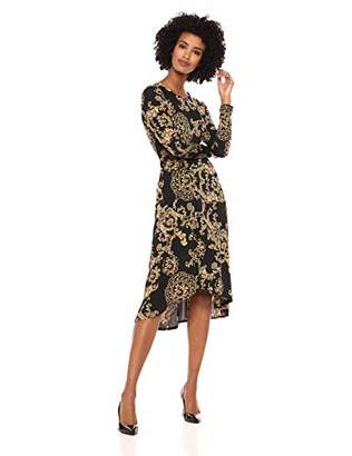 Donna Morgan Women's Printed Jersey Dress with Ruching