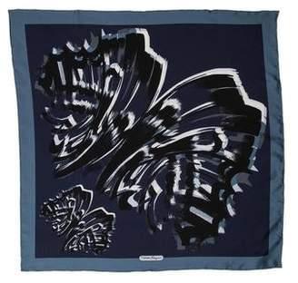 Salvatore Ferragamo Silk Splatter Print Scarf