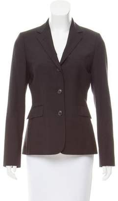 Black Fleece Structured Wool Blazer