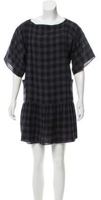 Morgane Le Fay Checked Mini Dress