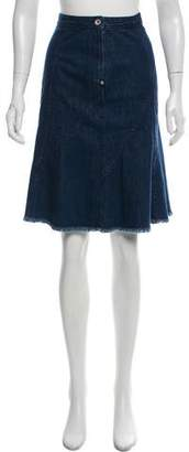 Rag & Bone Fringed Denim Skirt