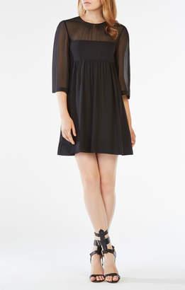 BCBGMAXAZRIA Morgan Silk Chiffon Dress