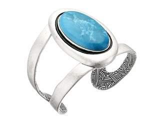 The Sak Oval Stone Cuff Bracelet Bracelet