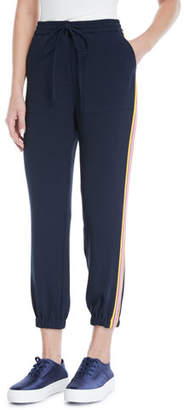 Derek Lam 10 Crosby Drawstring Ankle Jogger Pants with Racer Stripes