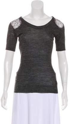 Vena Cava Semi-Sheer Knit Top