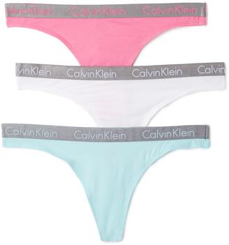 Calvin Klein Underwear Radiant Cotton Thongs 3 Pack $33 thestylecure.com