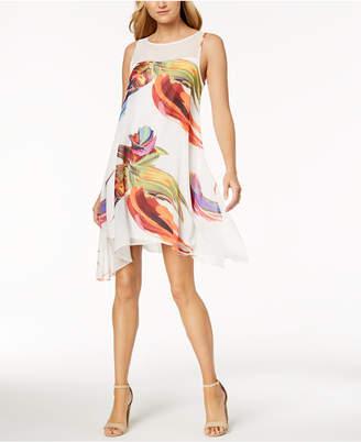 Robbie Bee Petite Watercolor-Print Dress