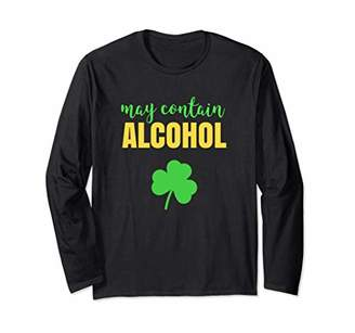May Contain Alcohol Long Sleeve Shirt For Women Shamrock