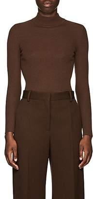 The Row Women's Steve Rib-Knit Wool Mock Turtleneck Sweater - Brown
