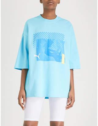 FENTY PUMA by Rihanna Oversized cotton-blend T-shirt