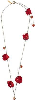Marni flora long necklace