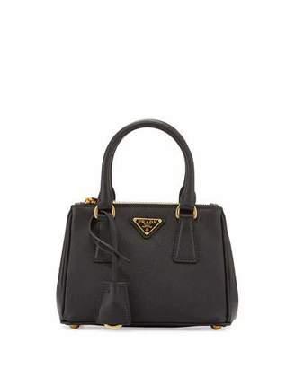 Prada Saffiano Lux Micro Tote Bag w/Shoulder Strap, Black (Nero) $1,290 thestylecure.com