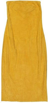 STOULS Yellow Leather Dress for Women