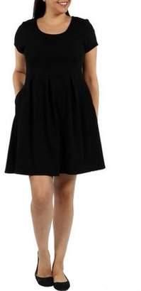 786fcedf587 24 7 Comfort Apparel Women s Plus Spring Fling Dress