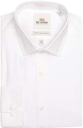 Ben Sherman Wrinkle-Free Slim-Fit Dress Shirt