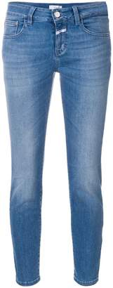 Closed stonewashed cropped jeans