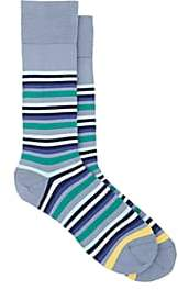 Paul Smith Men's Jito Cotton-Blend Mid-Calf Socks - Blue