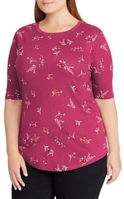 Lauren Ralph Lauren Plus Printed Jersey Top
