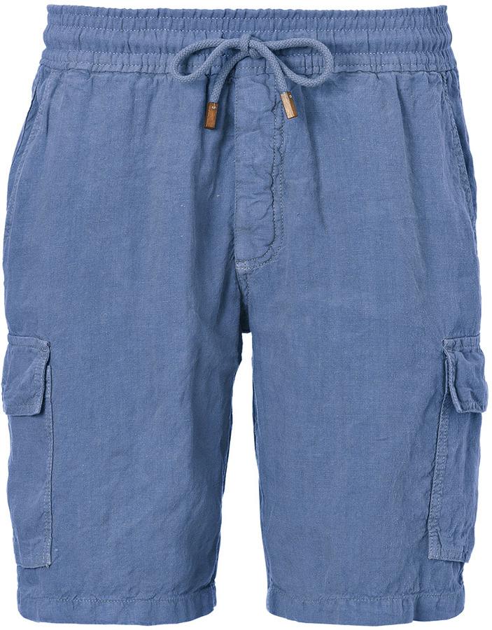 Vilebrequin Linen Bermuda Shorts in Denim