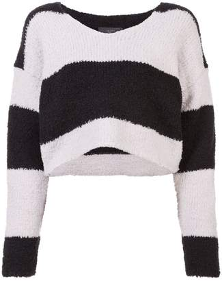 Amiri cropped striped jumper