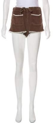 Tory Burch Terry Mid-Rise Mini Shorts