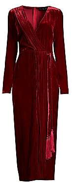 Rachel Zoe Women's Aly Velvet Wrap Dress - Size 0