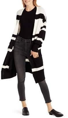Ella Moss Kimberly Color-Blocked Long-Line Cardigan