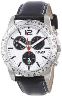 Golana Swiss Men's Swiss Quartz Stainless Steel and Leather Casual Watch