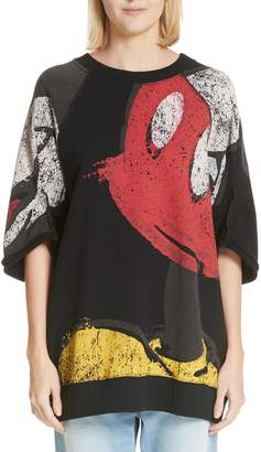 Marc Jacobs Mickey Mouse Short Sleeve Sweatshirt